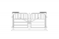 W Spreader and Gate 33in | 0.8m